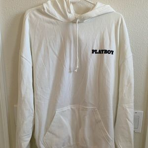 NEW WITH TAGS pacsun playboy white hoodie